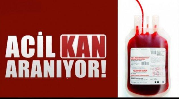 ACİL KAN İHTİYACI VAR!!!