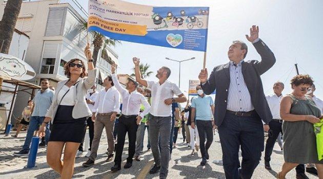 Başkan Soyer Avrupa Hareketlilik Haftası'nda İzmir'in karbon ayak izini azaltmak için yürüdü
