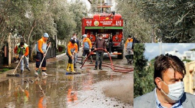 İsmail Yetişkin'in talimatıyla belediye ekipleri vatandaşların yardımına koştu.