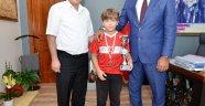 Küçük Kaan Başkan Demirağ'ı Ziyaret Etti
